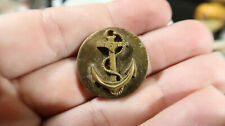 WWII US Navy USN Home Front Collar Disc Button Anchor