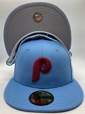 Philadelphia Phillies Custom New Era 1980 World Series Patch 59Fifty Grey UV