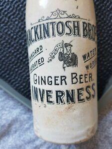 Mackintosh bros ginger beer bottle inverness blob top nr