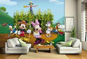 Disney Kids bedroom Wallpaper Mickey Mouse Farm photo wall mural Giant size