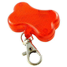 RED BONE Shape LAMPEGGIANTE PET COLLARE FLASHER o Zaino HI visibilità Clip