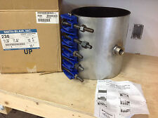 "Smith Blair 238111012008 Stainless 10"" Pipe Full Circle Repair Clamp, 1"" IP Out"