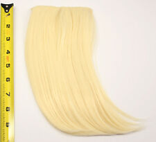 10'' Long Clip on Bangs Flaxen Blonde Cosplay Wig Hair Extension Accessory NEW