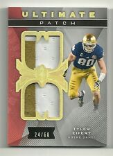 TYLER EIFERT  2013 Ultimate Collection Ultimate PATCH Serial # 24 of 60