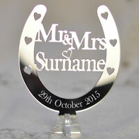 Wedding Top Table Mr & Mrs Personalised Decoration Horseshoe Centrepieces Plaque