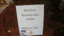 10 pack 8.5 X 11 Sign, Brochure, Business card Holder Display
