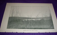 1897 Antique Print Number Two Pond Pike County Pennsylvania PA
