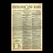 Miniatura Dollshouse GIORNALE-Exchange & MART 1868