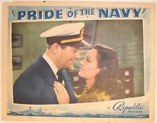 PRIDE of the NAVY ~ 1939 lobby card/poster ~ ROCHELLE HUDSON ~ James Dunn~u.s/us