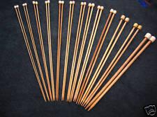 """13 Size Set Bamboo Knitting Needles SP 9"""" US 0-11"""