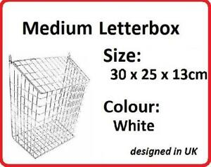 Letterbox Cage Letter Guard Basket Door Mail Cather Post Protector MEDIUM LB2