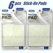 6 pc Bathtub NON-SLIP PAD Anti Slide Bathroom Shower Appliques Peel & Stick Mat