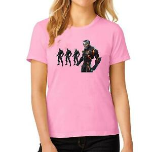 Womens Gaint Fortnite Printed T Shirt Girls Round Neck Short Sleeve Top Tees