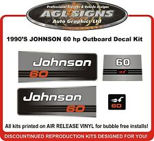 90'S JOHNSON 60 HP  Outboard Decal kit reproductions  also 70 50 hp