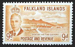 Falkland Islands Stamp 1952 9d King George VI Scott # 114 SG179 MINT OG H