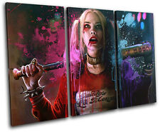 Harley Quinn Suicide Squad Movie Greats TREBLE CANVAS WALL ART Picture Print
