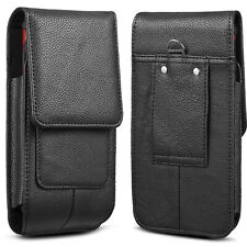 Genuine Leather Pouch Case Cover Belt Loop Holster For Large XL Phones Otterbox