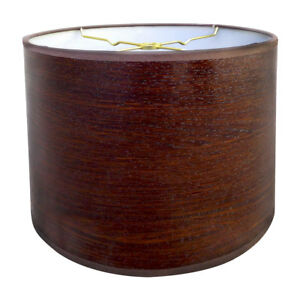 Royal Designs Brown Wood Texture Hardback Lamp Shade