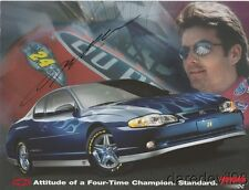 2003 Jeff Gordon signed Chevy Monte Carlo SS Signature Edition NASCAR postcard