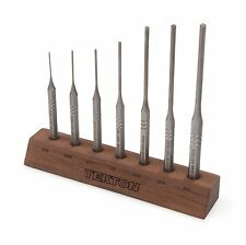 7 pc. Roll Pin Punch Set 1/16 -7/32-Inch with walnut bench block TEKTON 66536