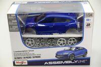 LAMBORGHINI URUS DIY KIT 1:24 Toy Car Diecast Metal Model Die Cast Models Blue