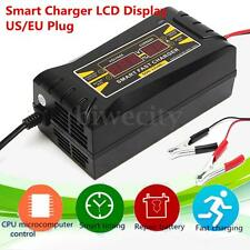 12V 10A Car Battery Charger Motorcycle Battery Charger LCD Display US/EU Plug