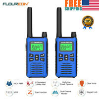 2X 16CH Walkie Talkie 400~480MHz Two Way RadioInterphone W// LED Auto Scan 12KM