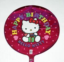 "HELLO KITTY SANRIO Bobcat Character Happy Birthday 18"" FOIL BALLOON SET 5 Pcs"