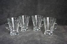 Vintage Crystal Etched Demi-tasse Cups Set of 4