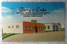 LINEN POSTCARD GERRYS CAFE MOBILE OIL PEGASUS KENNEBEC SOUTH DAKOTA #18