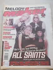 MELODY MAKER APR 10 1999 - ALL SAINTS GENE SMACK THE PONY NICK CAVE CATATONIA