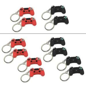 4Pcs Durable PVC Video Game Controller Handle Keychain Pendant  Fashion Jewelry