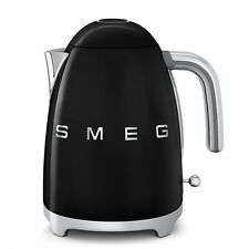 SMEG Cordless Electric Black Kettle Jug 1.7L Retro 50's KLF11BLUK