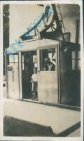 Trubsee Cable Car in Switzerland in 1933 4.25 x 2.50 inch Original .photo