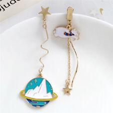Astronauts Moon Earrings Drop Dangle Statement Earrings Ear Stud Jewelry YA