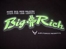 Big & Rich Tour For The Troops Ft. Bragg NC T Shirt Large Air Force Reserve Nice
