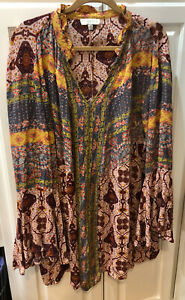 Umgee + long sleeve tunic dress top V Necksz 2XL