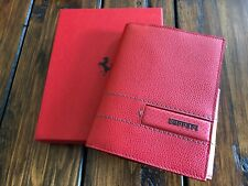 Genuine Ferrari RED Leather Wallet Passport Cover or Notepad RARE New in BOX