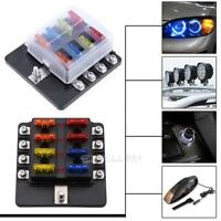 LED 8Way Auto Car Boat Circuit Standard ATO ATC Blade Fuse Box Block Holder 32V