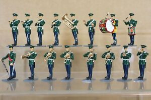 BRITAINS EYES RIGHT REFINISHED MODIFIED YEOMANRY MARCHING BAND x 16 nq