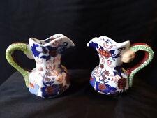 Pair Creme Milk Jugs Ceramic Pottery By Ringtons Tea Merchants