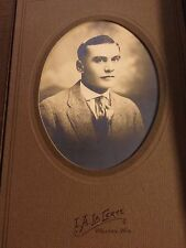 Antique Man Suite Picture I.A. LaCerte Black White Photo Cabinet Card Photograph