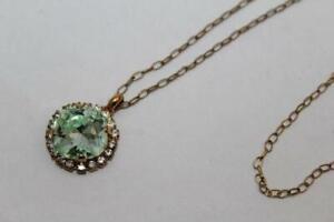 """ILONA RUBIN Vtg 14K GF Gold Filled Crystal Pendant NECKLACE 20"""" 5g (r-508)"""