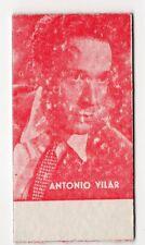 Spanish Weighing Weight Machine Card Calzados Garcera Actor Antonio Vilar