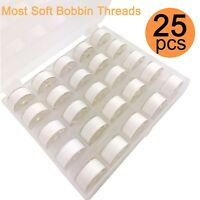25pcs Polyester Embroidery Bobbin Thread 90WT Size A for Embroidery & Sewing
