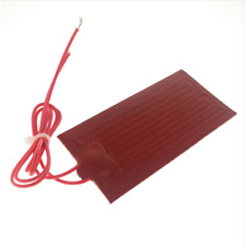 12V DC 80x100mm 20W Rectangle Flexible Waterproof Silicon Heater Pad For Oil Tan