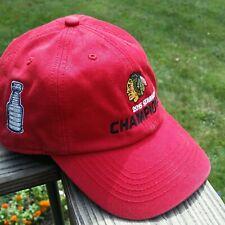 47 Brand 2015 Chicago Blackhawks NHL Stanley Cup Baseball Hat Large  L1