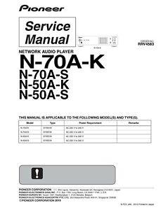 Service Manual-Anleitung für Pioneer N-70 A,N-50 A