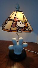 Disney Stained Glass Glove Lamp Tiffany Style Rare Collector Mickey Donald