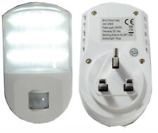 PLUG IN Infrared LED Night Motion Sensor Light UK PLUG